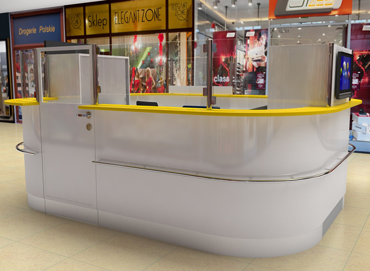 Design and visualization of Lotto Point stand in Cilesia City Center Shopping Mall.