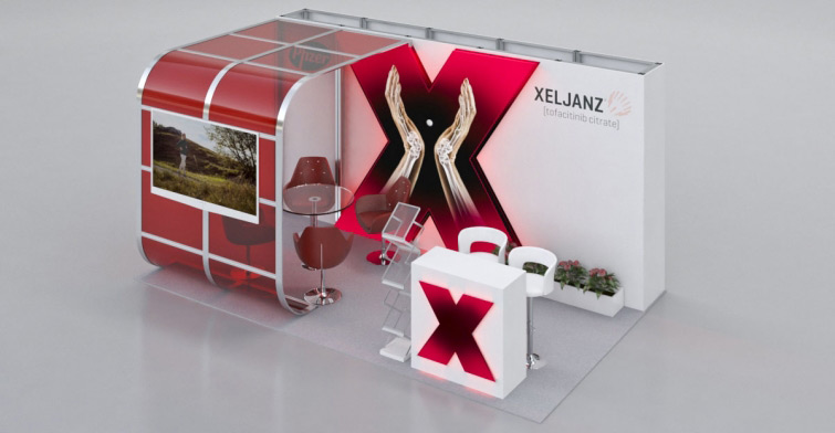 xeljanz exhibition stand visualisation
