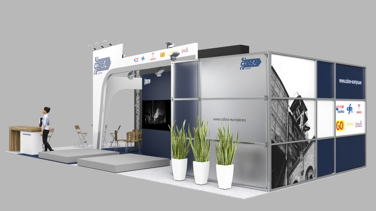 cobra europe exhibition stand visualisation