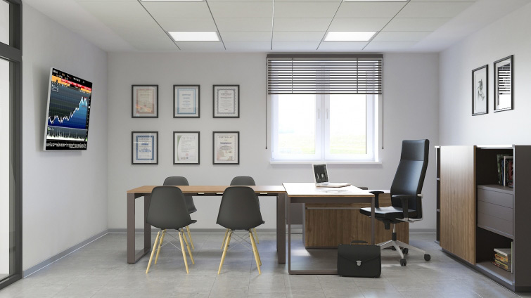 Copos office - commercial interior visualisations
