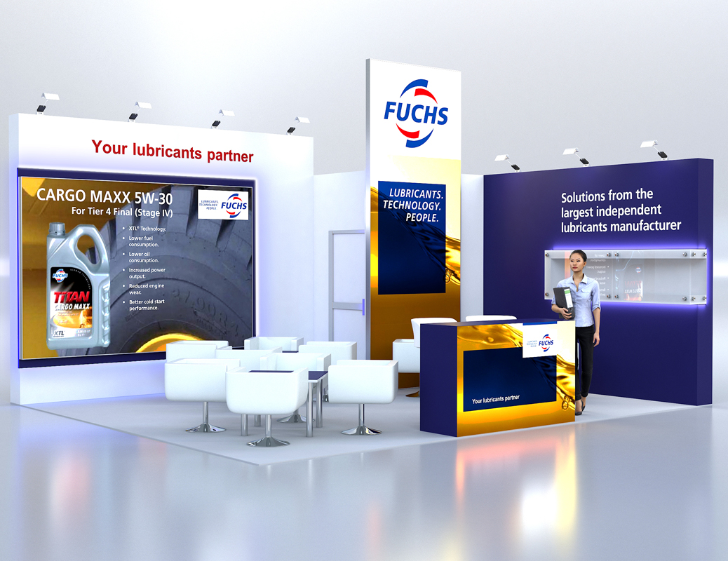 Exhibition Stand Visualisation : 3d architectural visualizations projekty fuchs exhibition stand