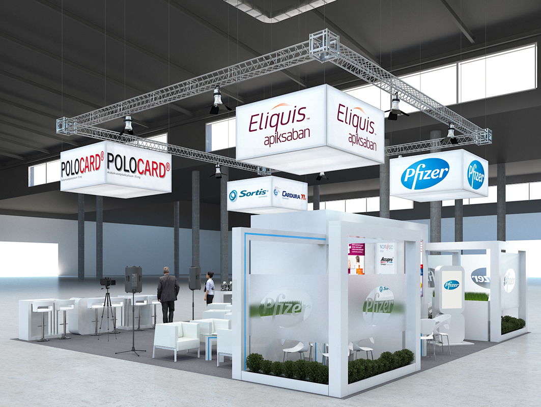 Exhibition Stand Visualisation : 3d architectural visualizations projekty pfizer exhibition stands