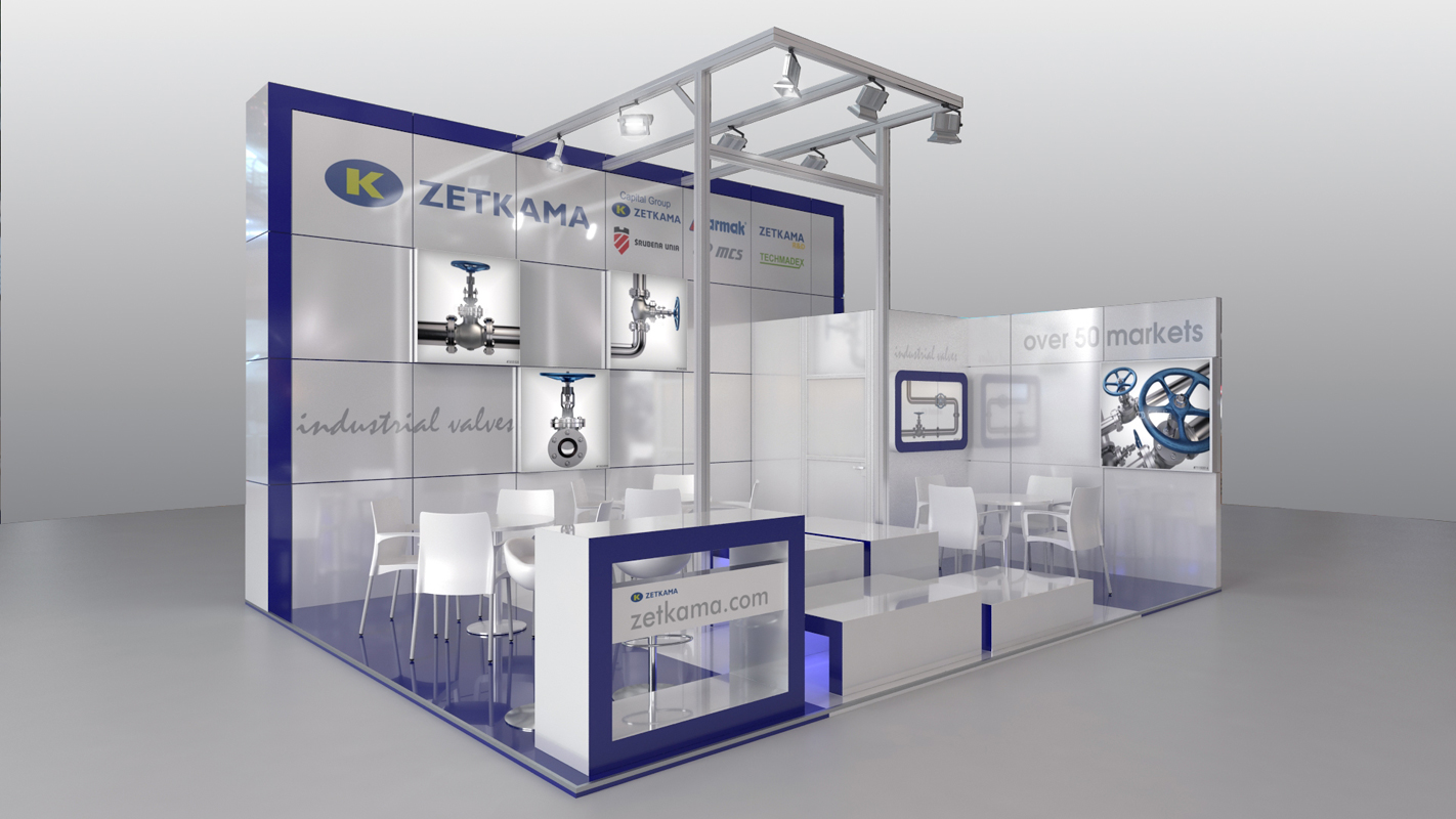 Exhibition Stand Visualisation : 3d architectural visualizations projekty zetkama exhibition stand