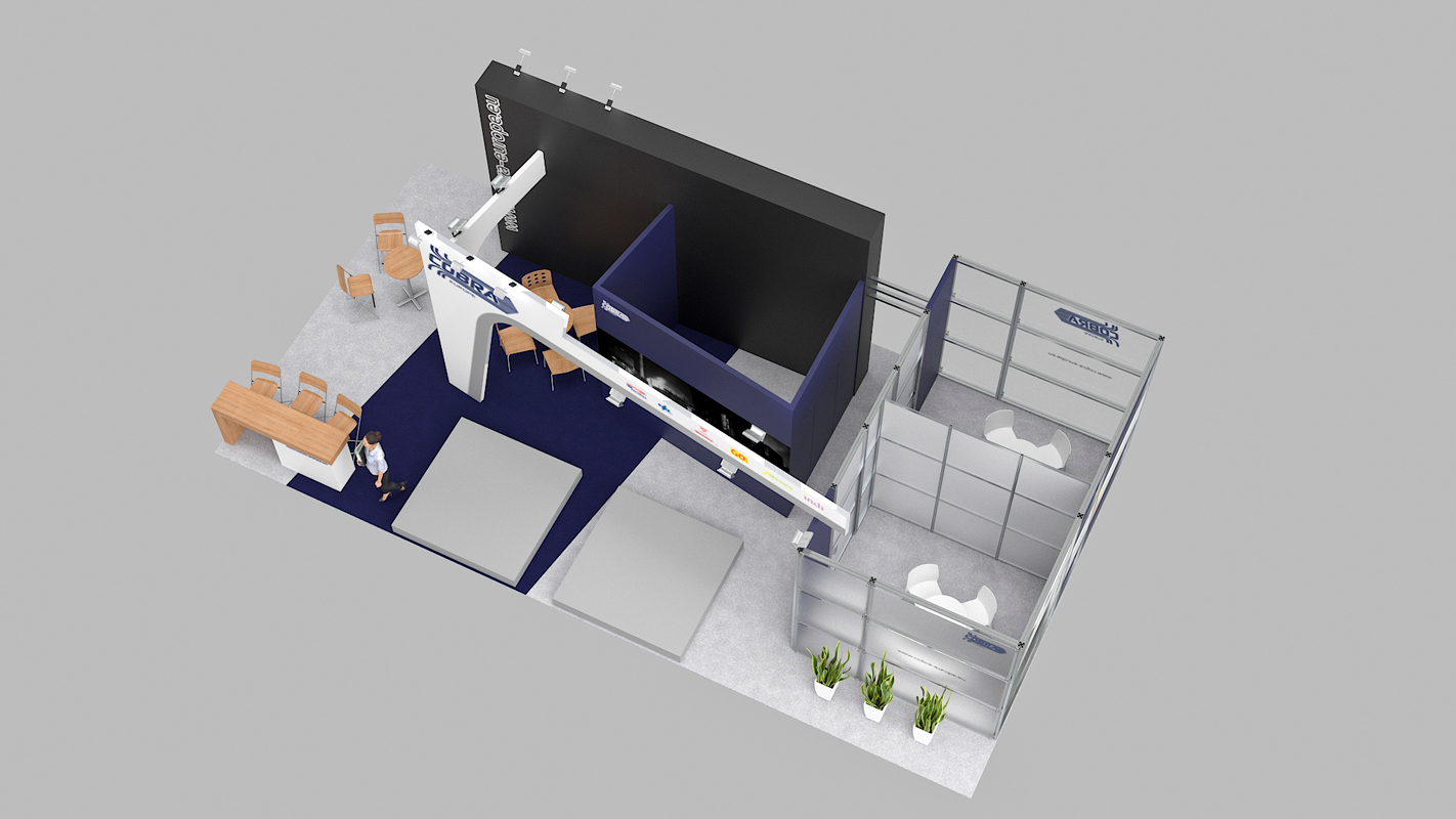 Exhibition Stand Europe : 3d architectural visualizations projekty cobra exhibition stand