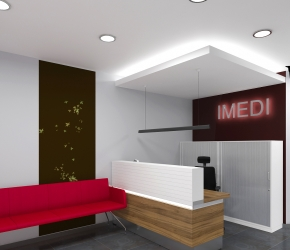 Interior visualization of Main Hall and Reception. This is another one shot of the seconf version of interior design.
