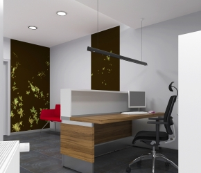 Interior Visualization of a Main Hall and Reception. This is visualization of the second interior design option.