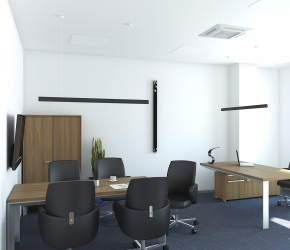 Interior visualization od a Manager's Office. We made this visualization based on interior design made by BALMA Inc. company.