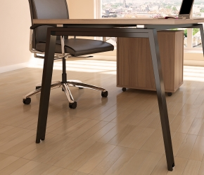 Interior Visualization of a desk from PLURIS Office Furniture System.
