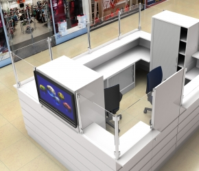 Design and visualization of LOTTO Point placed in Silesia City Center Shopping Mall.