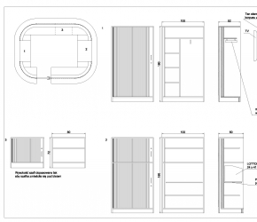 Technical drawings of a new LOTTO Point placed in Silesia City Center Shopping Mall.