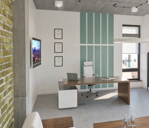 Interior Design and 3d commercial Interior visualisations of a Manager's office room.