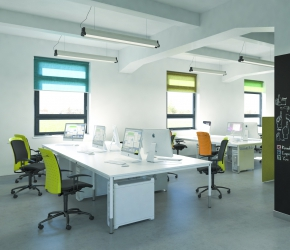 Interior Design and 3d commercial Interior visualisations of an open-plan office.