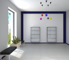 Interior design and interior visualization of entrance.
