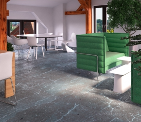 Interior design and visualization of office furniture showroom for T3 Atelier. Furniture put into visualizations: VITRA Alcove, VITRA Hal chairs, Eames Plastic, VITRA Eames table, VITRA Metal Side Table.
