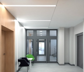 Hall and lift - commercial interior visualisation