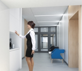 Corridor - commercial interior visualisation