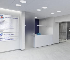 Reception - commercial interior visualisation