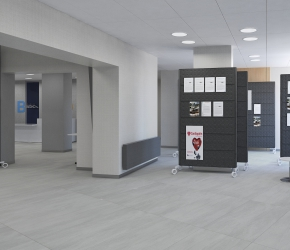 Entrance hall - commercial interior visualisation