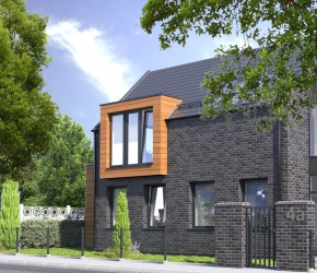 single family house architectural visualization