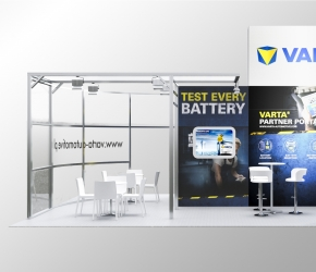 VARTA exhibition stand visualisation