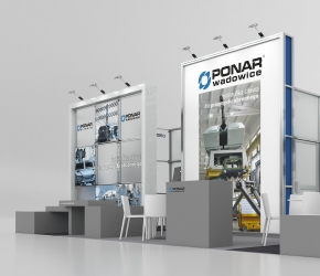 ponar Wadowice exhibition stand visualisation
