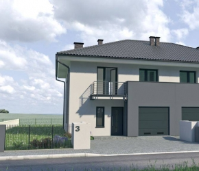 Semi-detached house exterior visualisations
