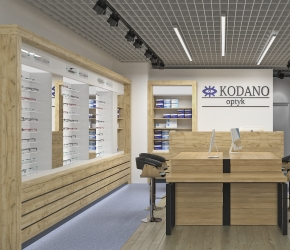 KODANO Optical branch - commercial interiors visualisation
