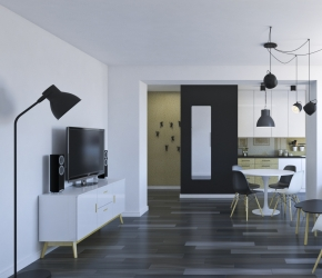 Small apartment interior visualisations