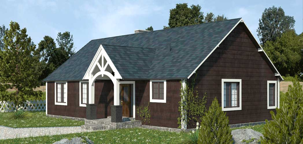 Canadioan cottage 3d visualisation